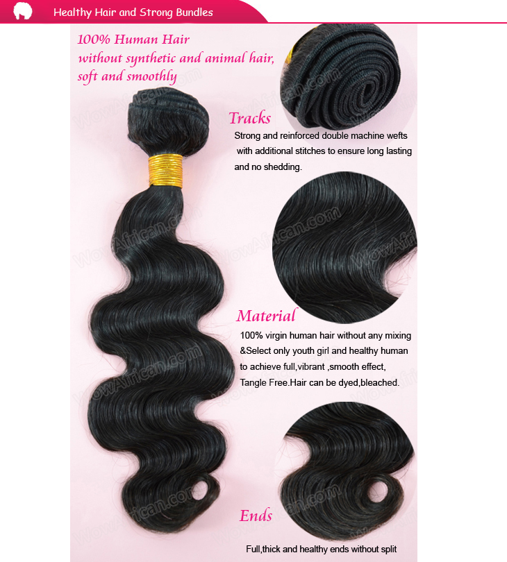 Healthy hair and strong wefts