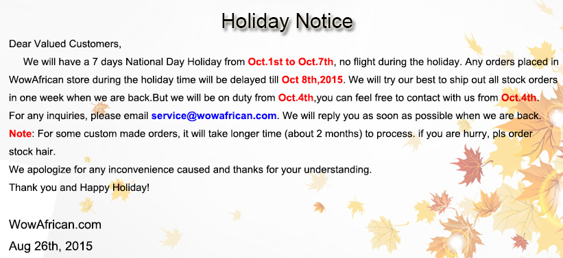 Wowafrican National day holiday